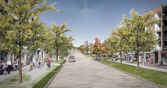 Fremtidens Vestby Illustrasjon grøntområder