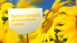 Sommer på helsestasjonen