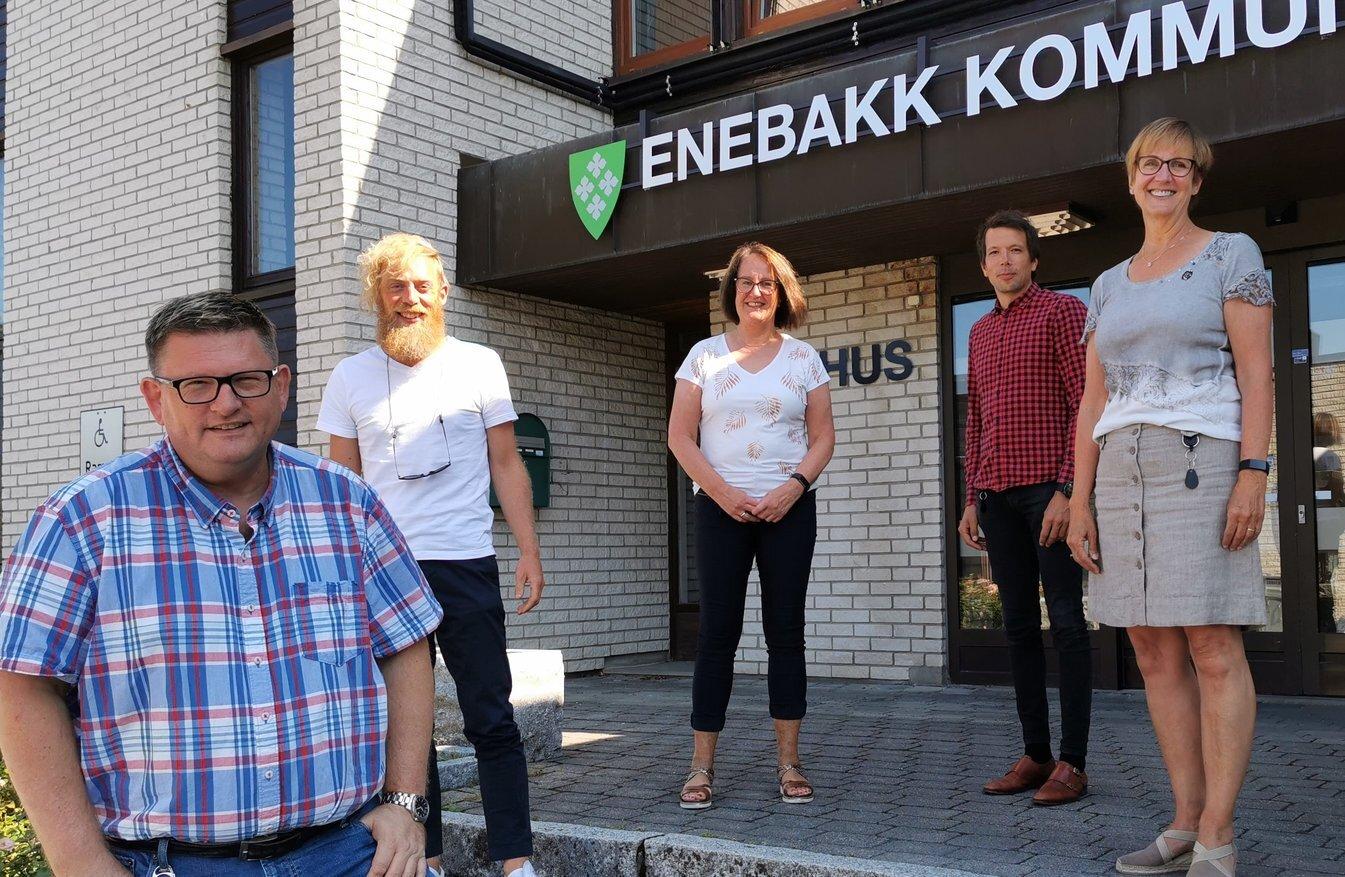 Kriseledelsen august 2020 - Solberg - Weng - Brenna - Kløvstad - Øiseth - foto Aksel Edgar-Lund CRPD.jpg