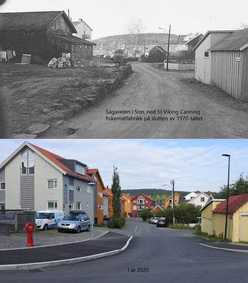 Sagaveien Son  1980-2020 Foto Vestby Historielag