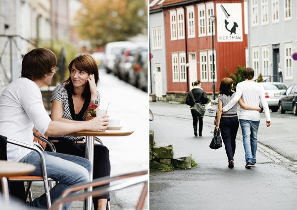 Ungt par på Dromedar kaffebar på Bakklandet. Foto: Tom Gustavsen / trondelag.com.