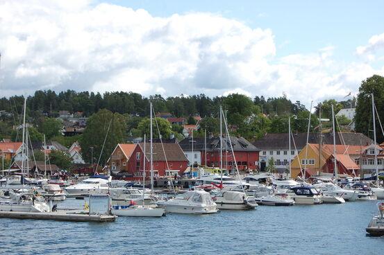 Son havn, bildet tatt fra Baronessen  Foto: Wenche I. Bro