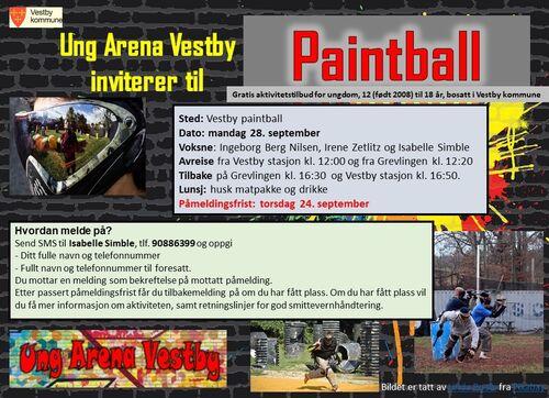 Invitasjon til paintball 28