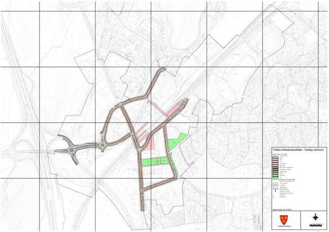 Kart over felles offentlig infrastruktur som er omfattet av modellen