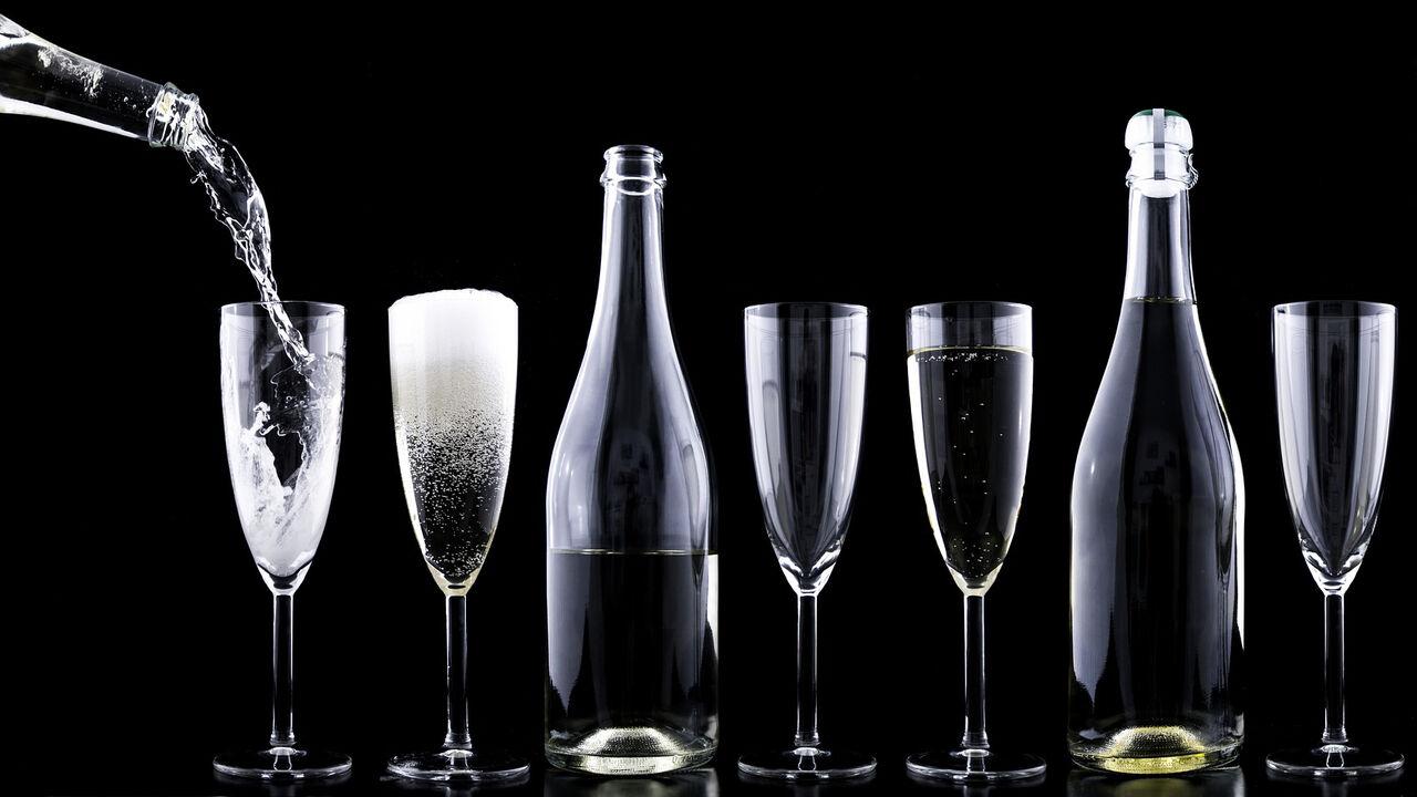 Glass med drikke