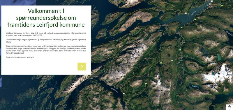 Spørreundersøkelse om ditt nærmiljø med mulighet til å markere steder direkte i kartet.