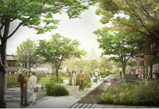 Fremtidens Vestby Illustrasjon Rådhusparken