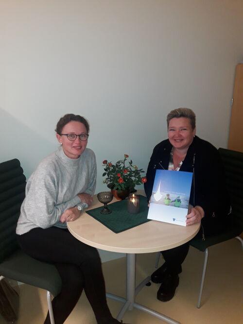 Fra venstre: Lene Glomstad og Randi Myran