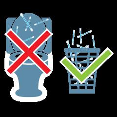 Avfall skal ikke i do men i søppelbøtta