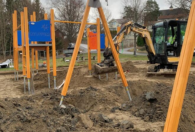 Endelig oppgraderer vi Grøstadparken! Foto: Vestby kommune