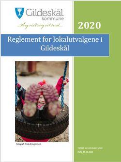Forside reglement lokalutvalg 2020