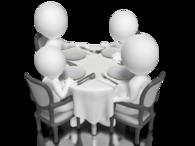 Personer ved bord