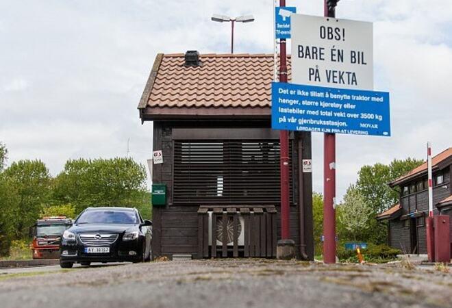 Gjenvinningsstasjonene i Vestby og Moss