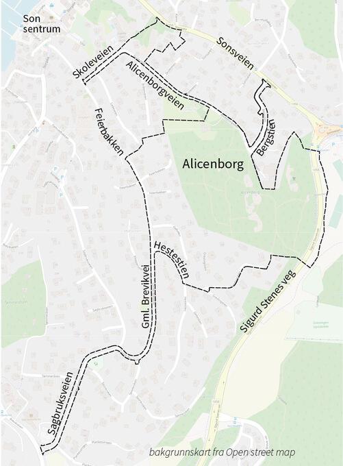 Varsel om oppstart Alicenborg Illustrasjonskart