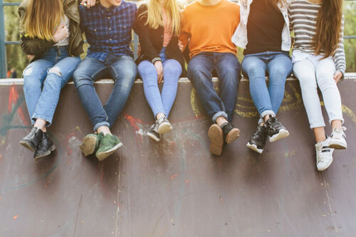 Ungdommer Illustrasjonsfoto