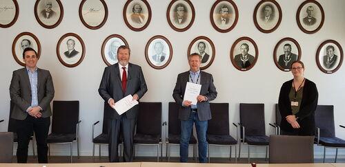 Kontraktsignering for bygging av Kulturkvartalet 12. februar 2021