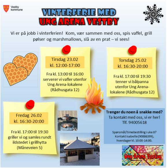 Vinterferie med Ung Arena Vestby - bli med da vel!