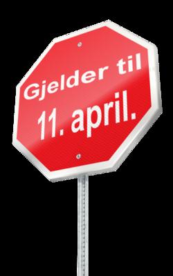 Til 11 april[1]