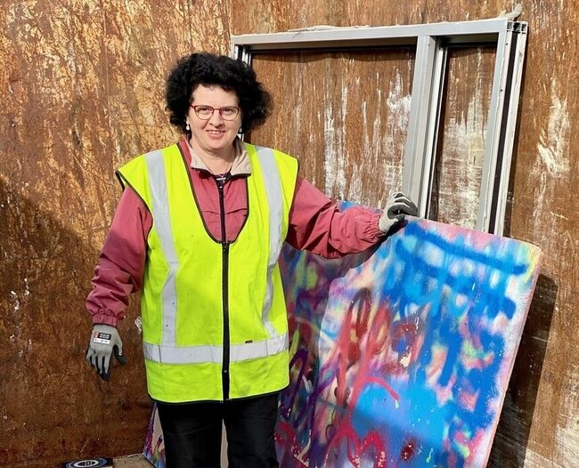 God hjelp da Næringstjenester fikk oppdraget å rydde ut i det gamle Rimibygget. Foto: Vestby kommune