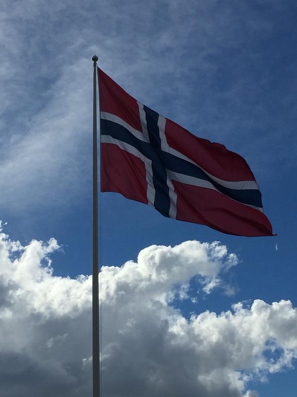 Det norske flagg Foto: Vestby kommune