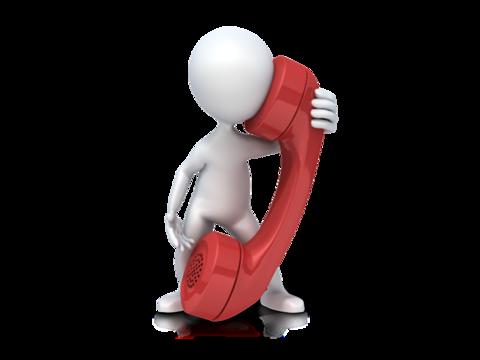 Figur med telefonrør