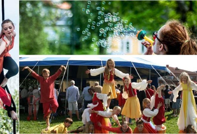 Gjøglerier og nyteater Foto: Vestby kommune