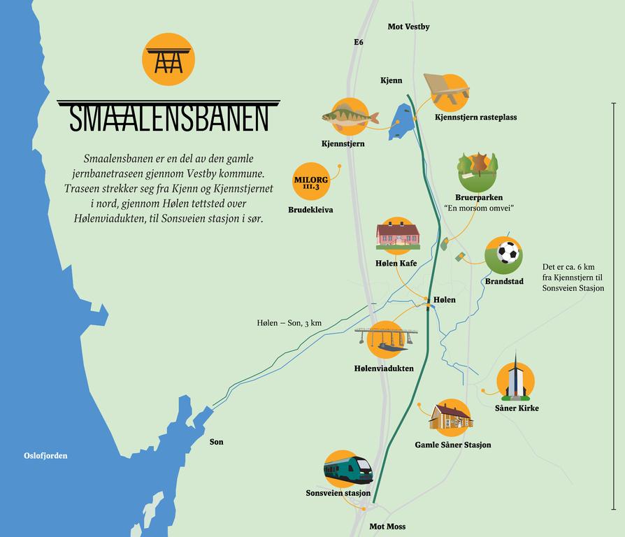 Oversiktskart Smaalensbanen
