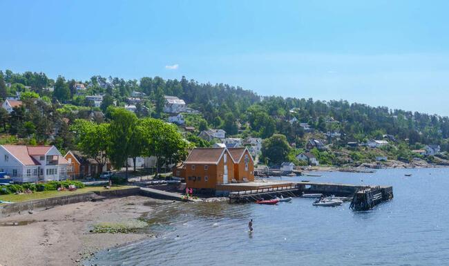 Sjøbodene i Hvitsten Foto: Vestby kommune