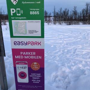 Sør-Lenangsbotn parkering Easypark