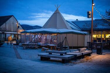 Matlystfestivalen lavvo torget Brumunddal