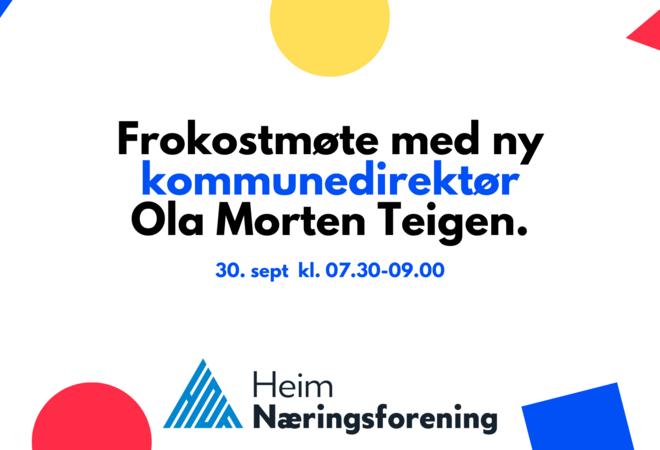 Frokostmøte med ny kommunedirektør Ola Morten Teigen_