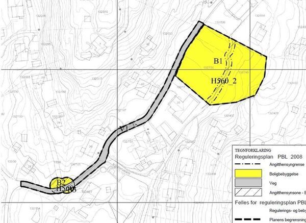 Plankart. Detaljregulering. Gartnerveien 41 og 43.