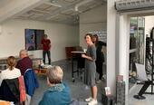 Biblioteksjef Marianne Vanem ønsker velkommen.
